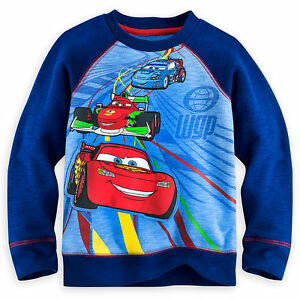 $27 NEW Disney Cars Racing McQueen Long Sleeve Sweatshirt Shirt Boy Size 2-3