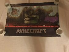 TRENDS JINX MOJANG MINECRAFT POSTER MINECRAFT WORLD 22X 33 1/2 INCHES NEW