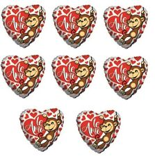 12 pc Hearts Love Happy Valentines Day Te Amo Cute Monkey Balloon Bouquet