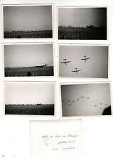 Lot de 12 Photos - Fête de l' Air au Bourget - Juillet 1951 - Aviation Avions -