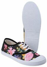 Canvas Lace Up Flats for Women
