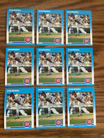 (9) Greg Maddux 1987 Flleer Rookie Cards #U68 Chicago Cubs Ready to be Graded