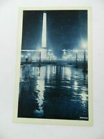 Vintage Postcard Paris by Night Illumina de la Place la Concorde France PATRAS