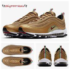 "Sz 15 Nike Air Max 97 Metallic Gold ""Italy"" Limited Edition CR7 95 98 270 Vapor"