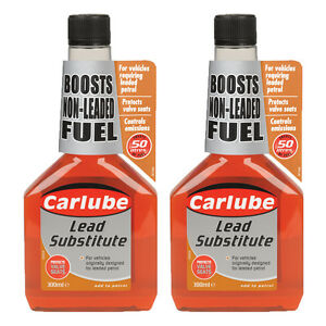2 x Carlube Lead Substitute Replacement Fuel Additive Treatment Unleaded Petrol