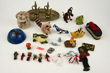 Lot of Miniature Animal Ceramics and Glass Figurines and Other Misc Items