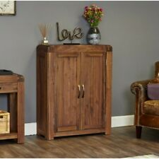 Bentley Walnut Furniture Dark Wood Shoe Rack Unit Storage Cupboard Hallway