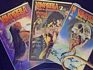 Vampirella: Death and Destruction Mature comics #1, #2, + #3 silver anniversary