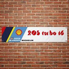 Peugeot 205 T16 Banner Garage Workshop PVC Sign Trackside Rally Car Display