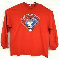 St Louis Cardinals Mission October World Series 2013 Long Sleeve TShirt Size 2XL