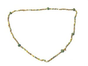 Ancient Egyptian Multi Coloured Faience Beads Necklace Restrung #CME2