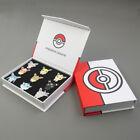 9Pcs/set Pokemon Badge Brooch Eevee Sylveon Eeveelution Metal Pin Collection Box