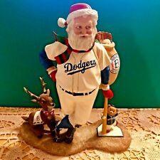 Baseball~Sporty Dodger Santa Clause Figurine~Christmas In July!.