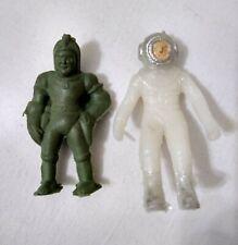 VINTAGE PLASTIC SPACEMAN ASTRONAUT TOY LOT ARGENTINA 1960's