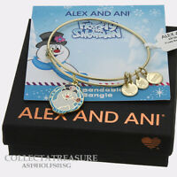 Authentic Alex and Ani Frosty The Snowman Shiny Gold Expandable Bangle
