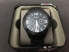 NWT Fossil Men's Watch BLACK Stainless Steel Bracelet Chronograph BQ2203 $165
