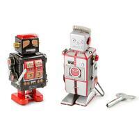 Windup Robot Tin Toy Collectable Vintage Mechanical Metal Clockwork Retro Gift