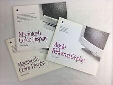 Livres / Manuels d'utilisation Apple - Lot Color Display / Performa Display
