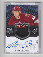 CHRIS BROWN 2013-14 The Cup 3 Color Rookie Auto Patch #D /249 Phoenix Coyotes RC