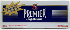 Premier Supermatic King Full Flavor Cigarette Filter Tubes 1 Box of 250 - 3101