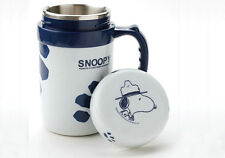 Peanuts Snoopy Vacuum thermal Flask Thermos Bottle Drink Mug Cup+lid,400ml,blue