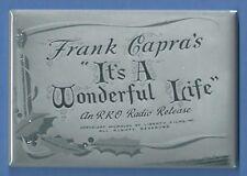 IT'S A WONDERFUL LIFE *2X3 FRIDGE MAGNET* FRANK CAPRA CHRISTMAS MOVIE STEWART