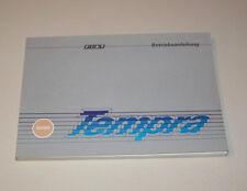 Betriebsanleitung Fiat Tempra - Stand 1992!