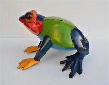 "Yard Art Metal Toad Frog Animal Sculpture 11"""