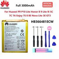 For Original Huawei P9 P9 Lite Honor 8 HB366481ECW 3000 mAh Replacement Battery