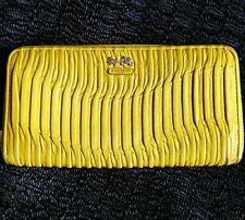 Coach Madison Gathered Leather Accordion Zip Wallet 46481 Silver/Kiwi Green
