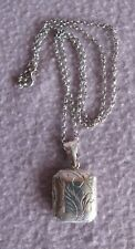 Antique Sterling Silver .925 Locket on Silver Belcher Chain