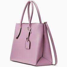 Kate Spade Leather Medium Top Zip Eva Shadow Anchor Satchel Pink Mauve