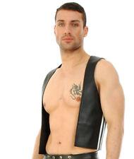 New Genuine leather Pride Vest Gay Proud Top Jacket Fetish Mens BDSM Top Jacket