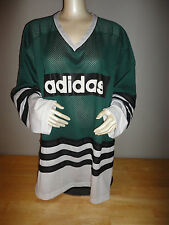 571411f32d8 Vintage 80s 90s ADIDAS Green / Black / White Hockey Jersey - Adult Size 2XL  XXL