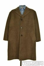 DOLCE & GABBANA Brown Herringbone 100% Wool TWEED Mens Jacket Coat - EU 52