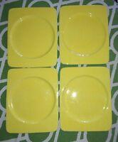 4 RETRO YELLOW Studio Nova Plate Made in Italy RECTANGLE
