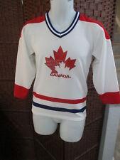 Vintage CCM Maska Team Canada Hockey jersey Youth Boys Large retro