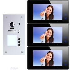 Video Türsprechanlage Türklingel mit Kamera 3 Familienhaus 2Draht 607F-S3 DT47MB
