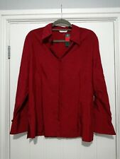 Vintage St Michael From Marks And Spencer Redcurrant Blouse Size 18 BNWT