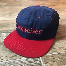 Vintage Budweiser Snapback Hat Cap Two-Tone Embroidered 1990s Beer Usa