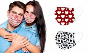 10 x 3 PLY DISPOSABLE FACE MASK - NON SURGICAL BREATHABLE FACEMASK Pattern UK