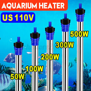 50W-500W 110V Aquarium Submersible Heater Fast Heated For Fish Tank Fresh Water