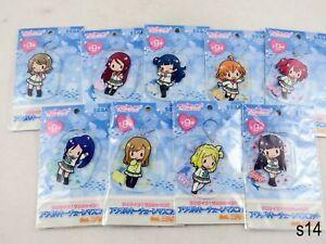 Choose One - Love Live Sunshine Clear Acrylic Keychain Mascot Sega Aqours