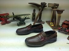 INDIA TWO TONE BROWN COLE HAAN SLIP ON NIKE AIR LEATHER SHOES SIZE 9,5 M