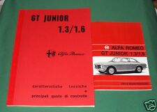 Uso e manutenzione Alfa Romeo GT Junior 1.3 1.6 + Manuale di officina meccanica-