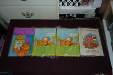 4 Over-Sized Hallmark Garfield Greeting Activity Cards 2 English 2 French UNUSED