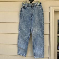 "VTG 90s Stonewashed Mom Jeans Lee Riders Womens Sz 11P High Waist 28"" x 27""L"
