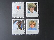 Falkland Islands Dependencies 1982, Princess Diana, #1L72-75, Mint N/H