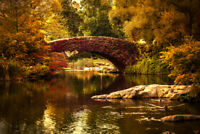 Gapstow Bridge by Chris Lord Central Park Photo Art Print Poster 12x18