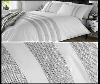 Duvet Cover With Pillow Cases New Diamante Quilt Set Size Double-King-S,King